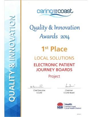 Quality & Innovation Awards 2014